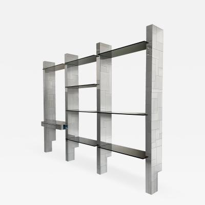 Paul Evans Paul Evans Chrome Cityscape Wall Shelving System