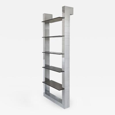 Paul Evans Paul Evans Chrome Cityscape Wall Shelving or Bookshelf