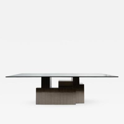 Paul Evans Paul Evans Cityscape Dining Table in Gunmetal
