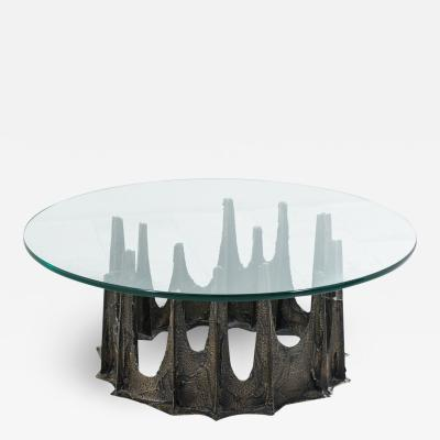 Paul Evans Paul Evans Directional Stalagmite Sculpted Bronze Low Table USA