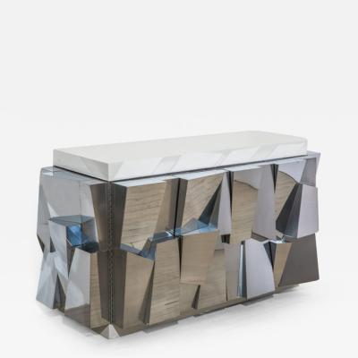 Paul Evans Paul Evans Faceted Standing Cabinet USA c 1970