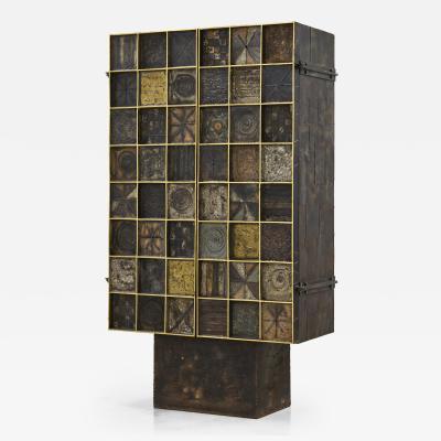 Paul Evans Paul Evans Gold Leaf Trim Cabinet 1965