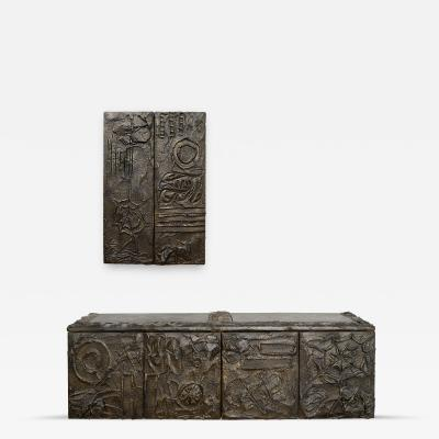 Paul Evans Paul Evans Matched Pair Of Floating Cabinets Signed 1971