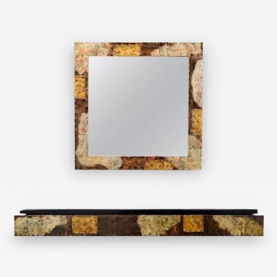 Paul Evans Paul Evans Patchwork Console and Mirror for Directional