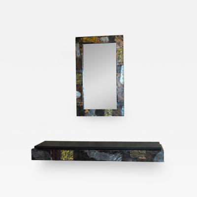Paul Evans Paul Evans Patchwork Mirror and Console