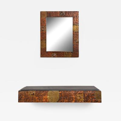 Paul Evans Paul Evans Patchwork Mirror and Wall Mounted Console