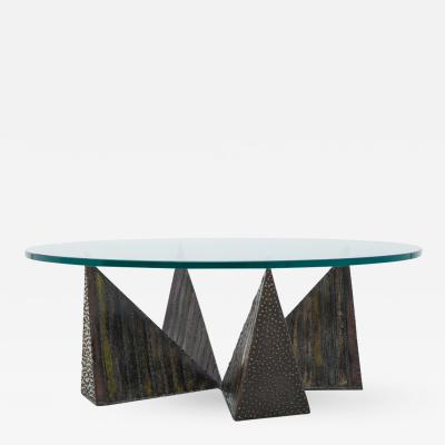 Paul Evans Paul Evans Polychromed Sculpted Steel Coffee Table for Directional USA 1970s