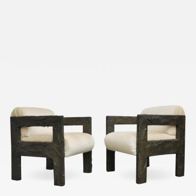 Paul Evans Paul Evans Sculpted Bronze Lounge Chairs