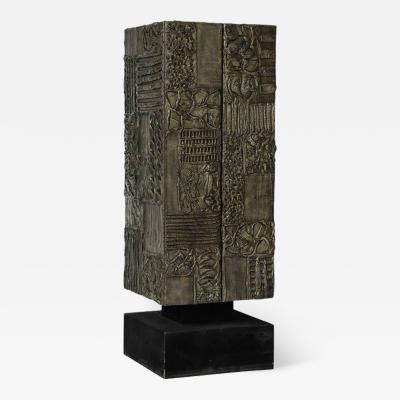 Paul Evans Paul Evans Sculpted Bronze Resin Cabinet Signed USA 1970s