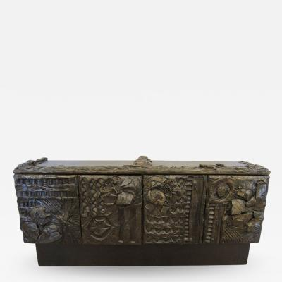 Paul Evans Paul Evans Sculpted Bronze Sideboard USA 1970