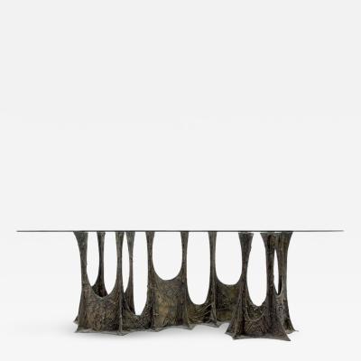 Paul Evans Paul Evans Sculpted Bronze Stalagmite Dining Table