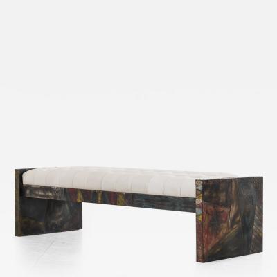 Paul Evans Paul Evans Sculpted Steel Bench USA