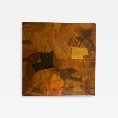 Paul Evans Paul Evans Style Brutalist Patchwork Copper Brass and Steel Trivet or Riser