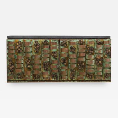 Paul Evans Paul Evans Verdigris Copper Loop Hanging Console USA c 1965