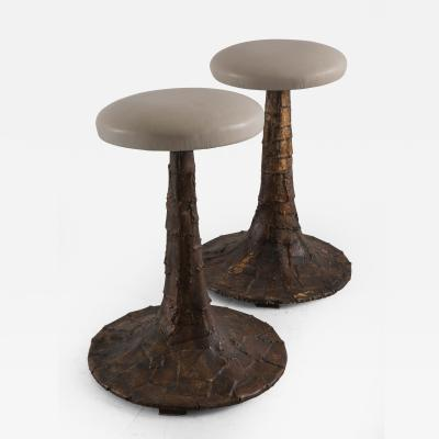 Paul Evans Paul Evans Welded Steel Patchwork Stools USA c 1964