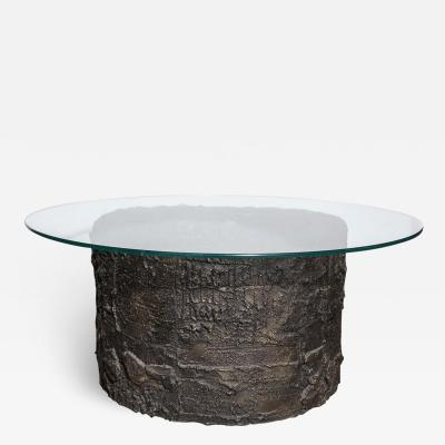 Paul Evans Paul Evans for Directional Sculpted Metal Collection Bronze Resin Coffee Table
