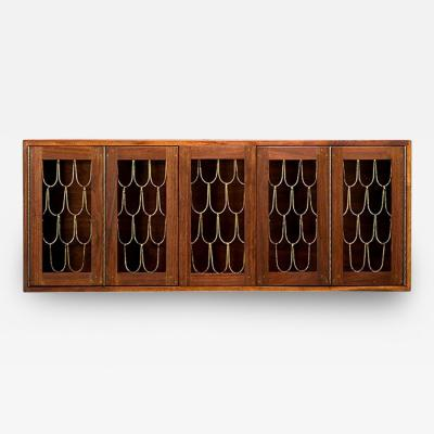 Paul Evans Rare and Early Walnut Wall Hanging Cabinet by Paul Evans and Phillip Powell