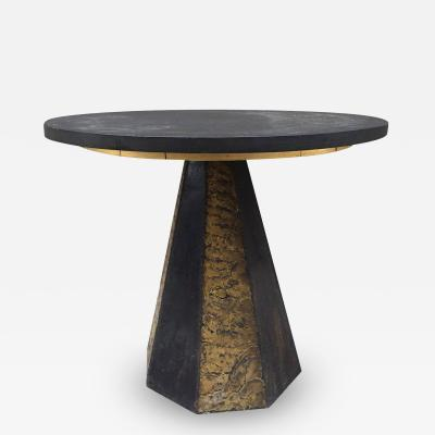 Paul Evans Round Slate Top Table by Paul Evans