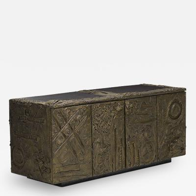 Paul Evans SCULPTED AND PATINATED BRONZE CREDENZA BY PAUL EVANS FOR DIRECTIONAL