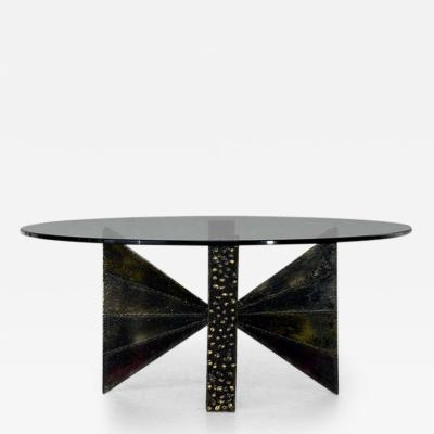 Paul Evans Sculpted Steel Coffee Table