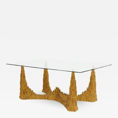 Paul Evans Sculptural City Skyscraper Base Dining Table