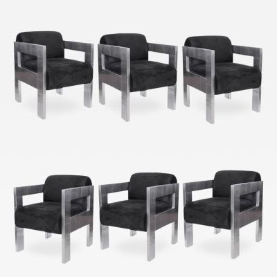 Paul Evans Set of 6 Paul Evans Cityscape Chairs 1976 Original Labels