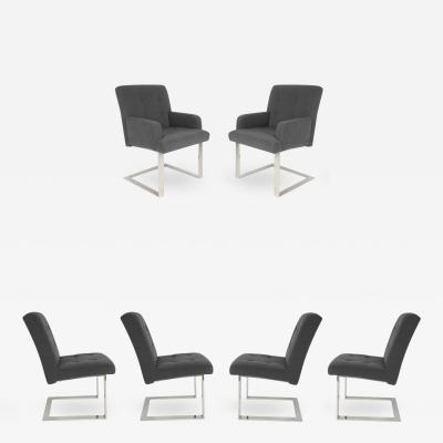 Paul Evans Set of Six 1970s Cantilevered Dining Chairs by Paul Evans for Directional