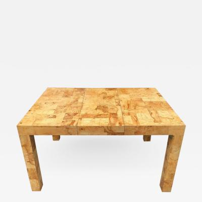 Paul Evans Signed Mid Century Paul Evans Burl Patchwork Dining Table