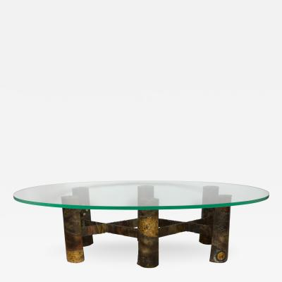 Paul Evans Six Legged Welded Metal Coffee Table by Paul Evans