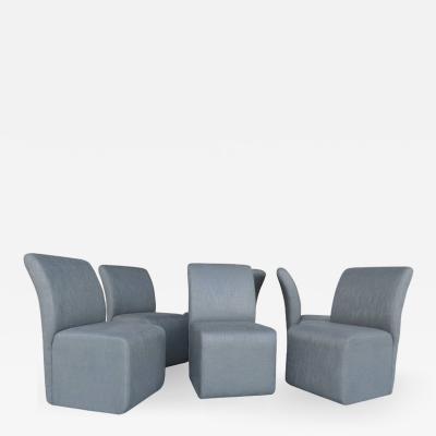 Paul Evans Six Sculptural Minimalist Dining Chairs by Paul Evans