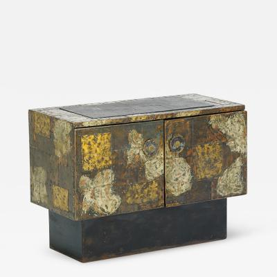 Paul Evans Stylish Patchwork Cabinet by Paul Evans