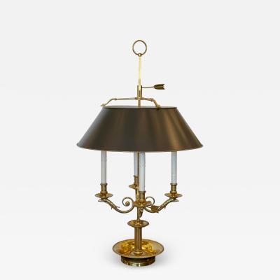 Paul Ferrante Large Paul Ferrante French Gilt Bronze Four Light Bouillotte Griffin Table Lamp