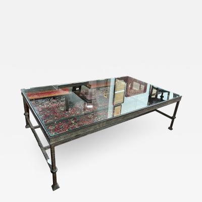 Paul Ferrante Paul Ferrante Iron Glass Rectangular Coffee Table