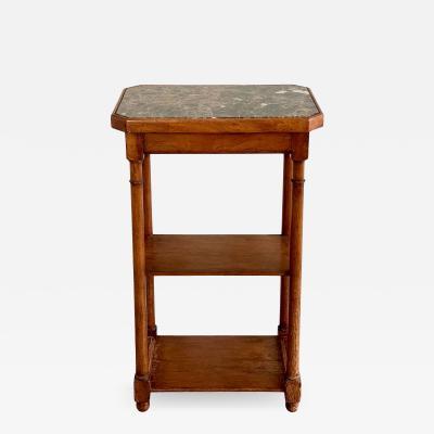 Paul Ferrante Paul Ferrante Italian Marble Top Side Table