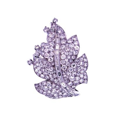 Paul Flato Paul Flato Diamond Leaf Brooch