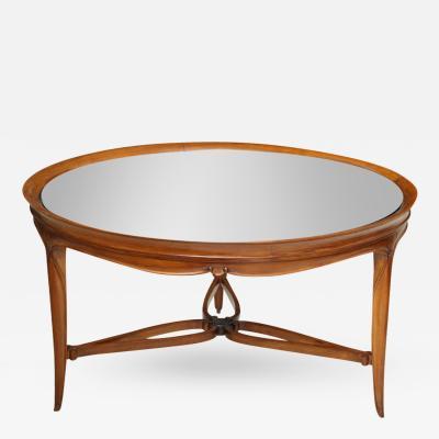 Paul Follot Fine Art Deco Mahogany and Glass Low Table Paul Follot
