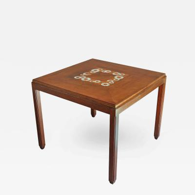 Paul Follot Fine French Art Deco Side or Game Table by Paul Follot