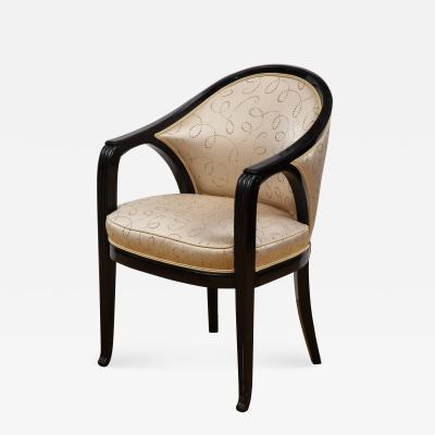Paul Follot Pair of Ebonized Chairs by Paul Follot