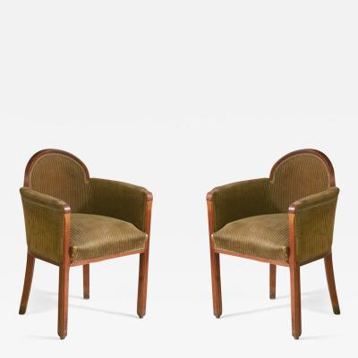 Paul Follot Paul Follot Pair of Armchairs