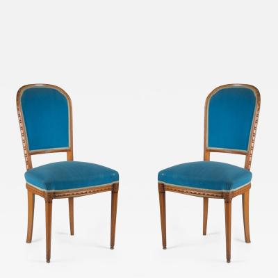 Paul Follot Paul Follot Pair of Side Chairs
