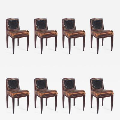 Paul Follot Paul Follot Set of Eight Rosewood Dining Chairs