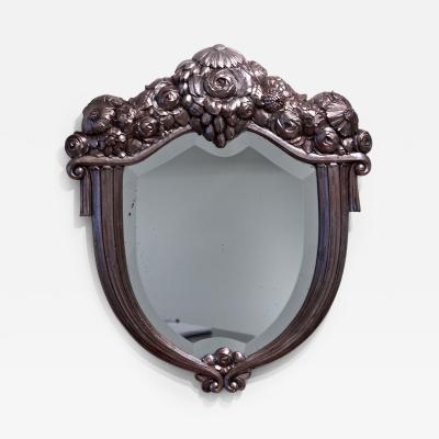 Paul Follot Paul Follot Silver Leaf Mirror