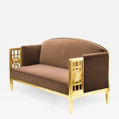 Paul Follot Paul Follot superb art deco gold leaf frame couch