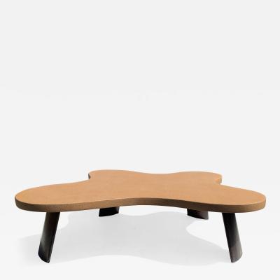 Paul Frankl Amoeba Cork and Mahogany Coffee Table