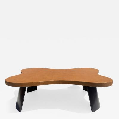 Paul Frankl Biomorphic Cork and Mahogany Coffee Table