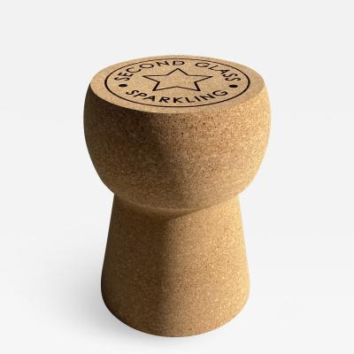 Paul Frankl Champagne Cork Side Table Stool
