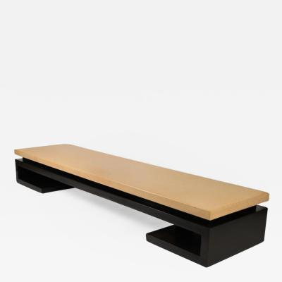 Paul Frankl Exceptional Cork Top Bench by Paul Frankl for Johnson Furniture Co