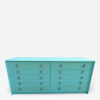 Paul Frankl Fantastic Tiffany Blue Paul Frankl X Pull Dresser Credenza Mid Century Modern