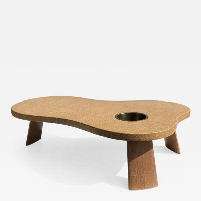 Paul Frankl Organic Shape Cork and Mahogany Coffee Table