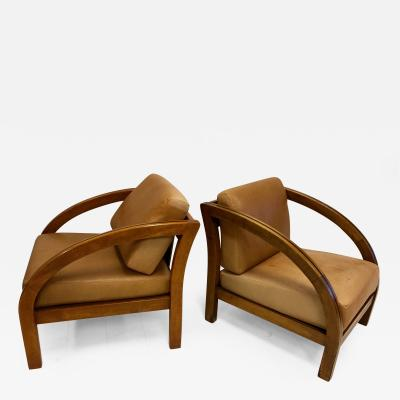 Paul Frankl Pair of Paul Frankl Club Chairs
